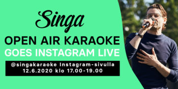 Singa Open Air Karaoke goes Instagram LIVE